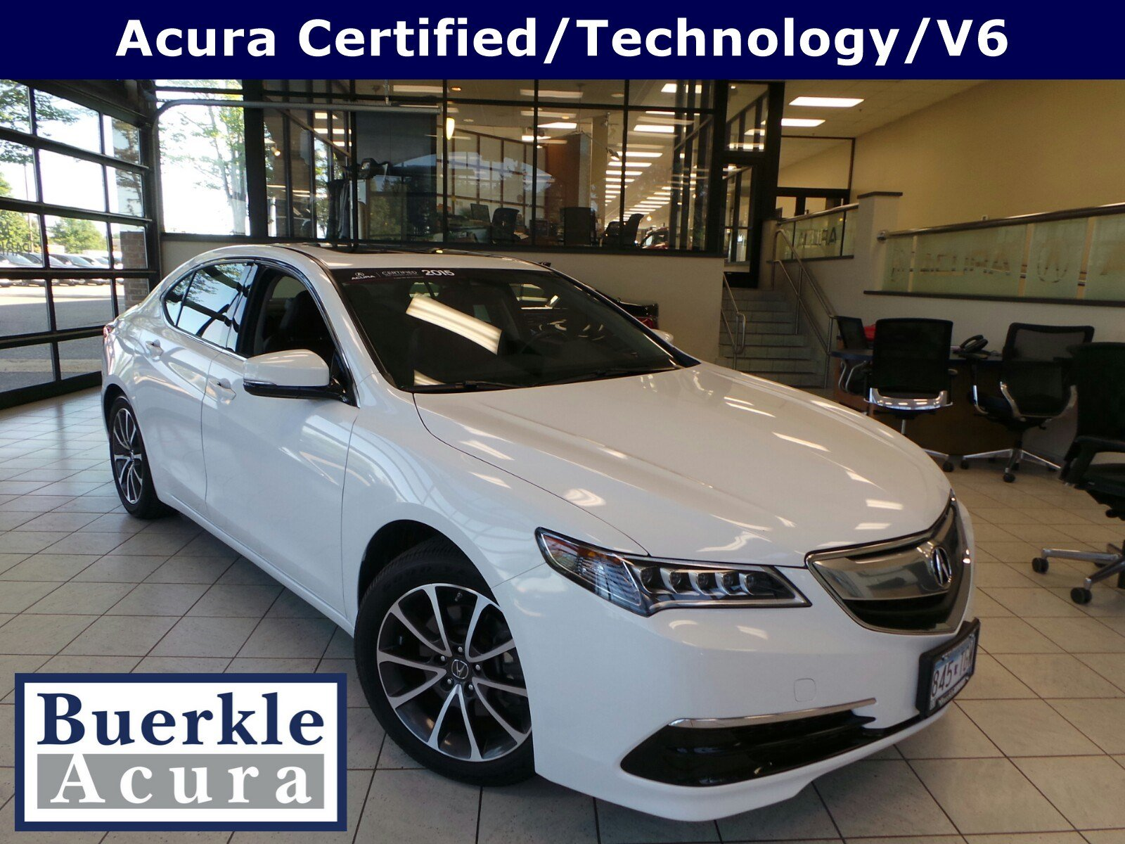 Pre Owned 2015 Acura TLX V6 Tech 4dr Car N A